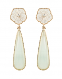 Flora Mother of Pearl Stone Drop Earrings