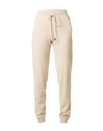Beige Cotton Jogger Pant