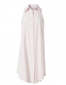 Swing White Multi Stripe Shirt Dress