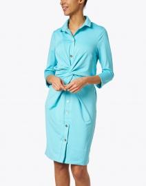 Gretchen Scott - Turquoise Twist Front Dress
