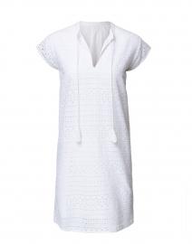 White Eyelet Cotton Dress