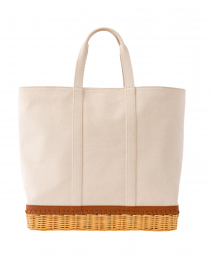 The Gardner Rattan and Canvas Tote