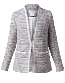 Ete Bastille Cream and Blue Tweed Jacket