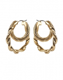 Holly Gold Double Twisted Hoop Earrings
