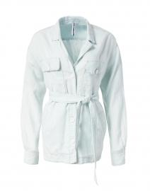 Marc Cain Sports - Light Blue Cotton Linen Jacket