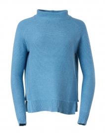 Seine Blue Cotton Garter Stitch Sweater