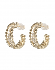 Firenze Gold Triple Hoop Earrings