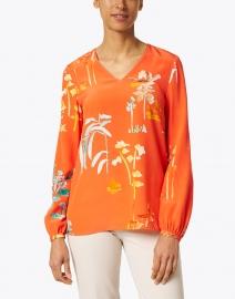 Lafayette 148 New York - Melba Persimmon Oasis Print Silk Blouse