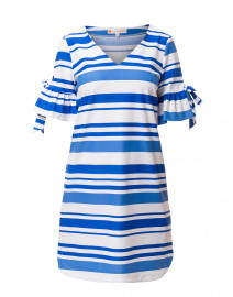 Cory Blue Striped Stretch Dress