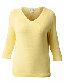 Yellow Cotton Shaker Sweater