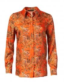 Calie Orange and Green Fern Print Shirt