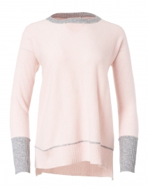 Petal Pink and Grey Cashmere Sweater