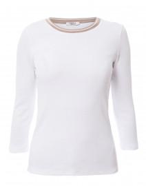 White Cotton Top with Lurex Trim