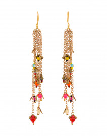Fiesta Multicolor Beaded Chain Earrings