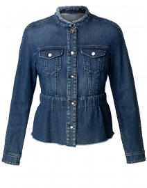 Blue Denim Peplum Jacket