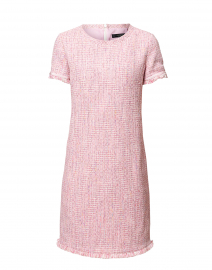 Ranch Pink Tweed Fringe Dress