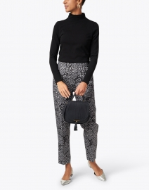 Kobi Halperin - Shelby Grey and White Cheetah Printed Viscose Pull On Pant