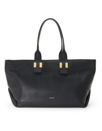 Melbourne Black Textured Leather Tote Bag