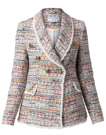 Orange and White Tweed Jacket