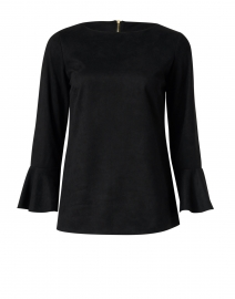 Black Faux Suede Top