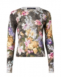 Charlotte Multicolored Rembrandt Floral Silk and Cashmere Sweater