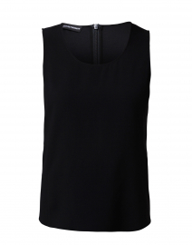 Black Scoop Neck Shell
