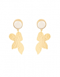 Sigrid Gold and Pearl Drop Earring