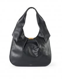 Milan Black Smooth Leather Shoulder Bag