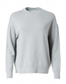 Slate Blue Grey Cotton French Terry Pullover