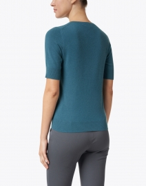 Repeat Cashmere - Lake Blue Knit Cashmere Top