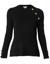 Susette Black Rib Sweater