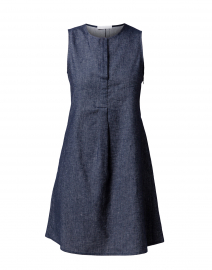 Blue Chambray Cotton Dress