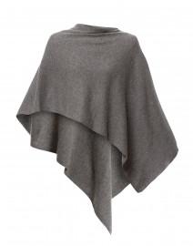 Silver Grey Cashmere Ruana