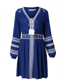 Vivianna Blue Embroidered Dress