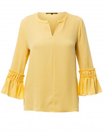 Kyle Yellow Silk Blouse