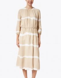 Piazza Sempione - Beige and White Viscose Dress