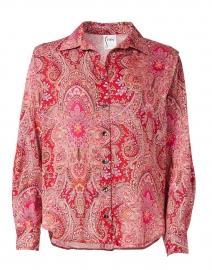 Beckett Ruby Paisley Shirt