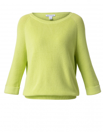 Apple Green Cotton Tab Sleeve Sweater