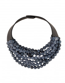 Bella Two-Tone Marble Navy Necklace