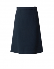 Koral Iron Grey Wool Crepe Skirt