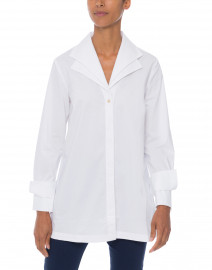 Hinson Wu - Cari White Stretch Cotton Button Down Tunic