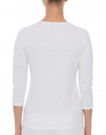 Belford - Optic White Crew Neck Cotton Sweater