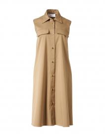 Dawiri Beige Stretch Cotton Shirt Dress