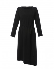 Black Stretch Crepe Dress