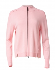 Light Pink Wool and Cashmere Zip Up Sweater
