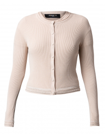 Beige Knit Cotton Cardigan