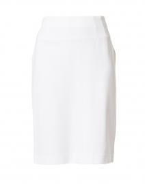 Logan White Knit Pull-On Skirt