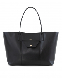 Miami Black Leather Tote