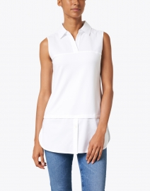 Hinson Wu - Lea White Stretch Cotton Underlayer Shirt