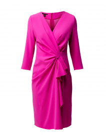 Drahna Pink Ruched Dress